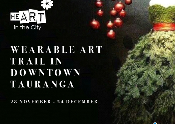 Wearable Art Trail in Downtown Tauranga