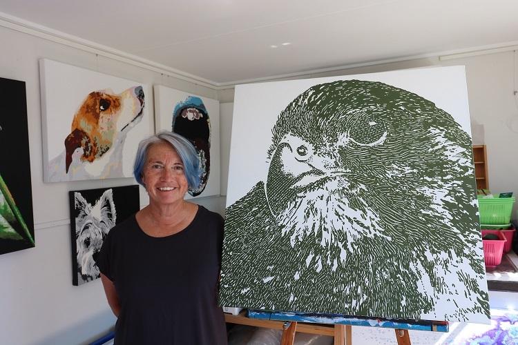 In the studio with Janet Barratt