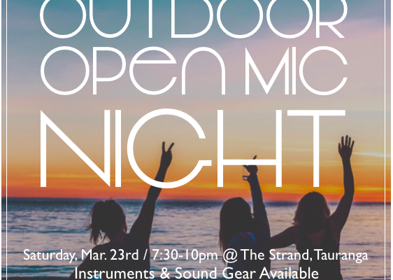 Outdoor Open Mic Night - March