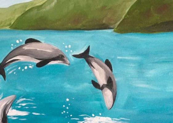 Paint and Wine Night - Hector Dolphins - Paintvine