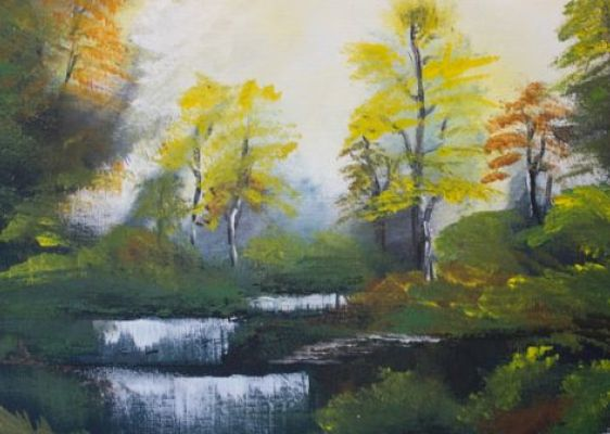 *POSTPONED* Paint and Wine Night - Bob Ross' Autumn Forest - Paintvine