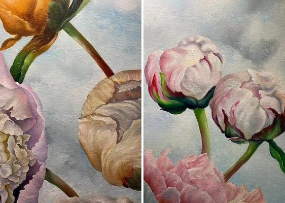 The Art Lounge NZ Exhibition 'Petals and Pods by Jenny Coker